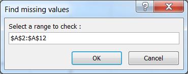 Select Input Range