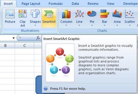 how to insert smartart