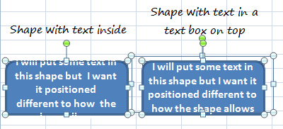 text tricks with excel shapes