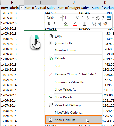 Excel PivotTable Field List Tips • My Online Training Hub
