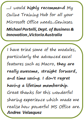 Microsoft Office Training Testimonials 1