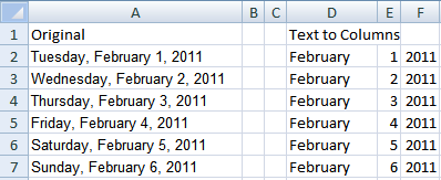 excel how to change format of date on column