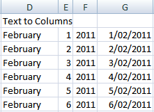 fix dates with date and month formula