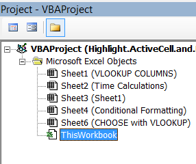 This Workbook VBA Module