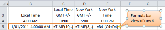 Excel TIME Function Example