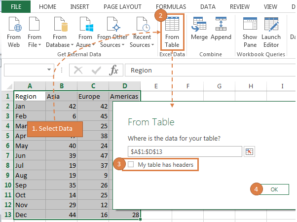 transpose data with Excel Power Query