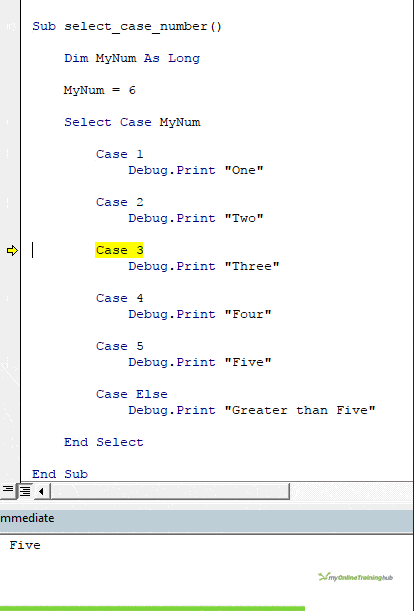 VBA SELECT CASE • My Online Training Hub