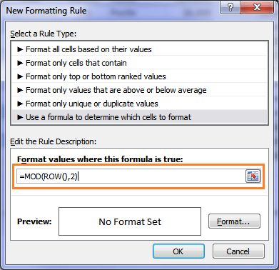 How to create Excel Conditional Formatting using a formula